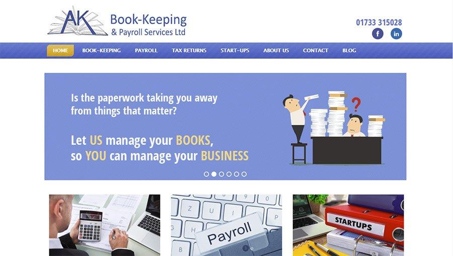 AK Book-keeping website design