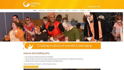 Goldhay Arts Charity Website Design