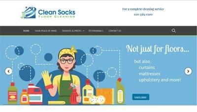 Clean Socks Floor Cleaning – Website Design
