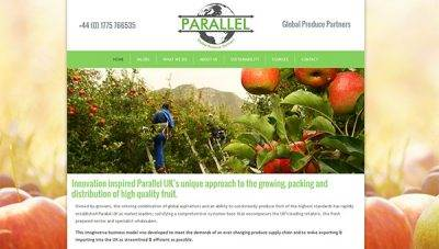 Brochure web design for Parallel UK, Stamford