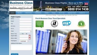 Business Class International : CMS website