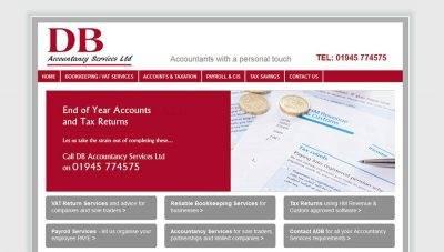 Brochure Website Design – DB Accountancy Services