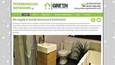 Peterborough Wetrooms Web Design