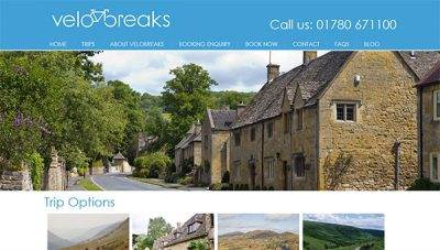 Velobreaks Cotswolds Cycling Holidays web design