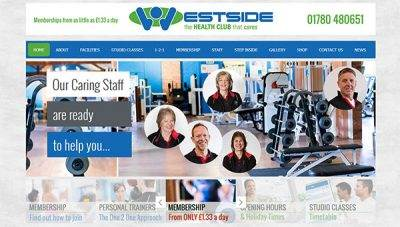 Web design for Westside Health Club, Stamford