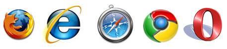 Firefox, Internet Explorer, Safari, Google Chrome and Opera