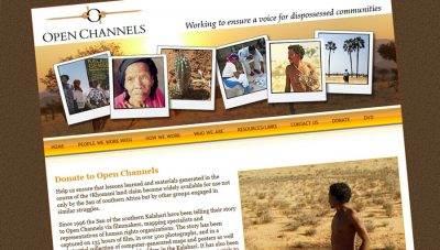 Open Channels – charity website