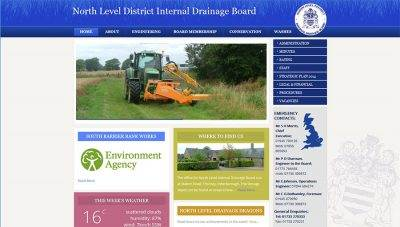 CMS Website Design – North Level Internal Drainage Board
