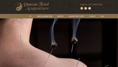 Web design for Duncan Ford Acupuncture