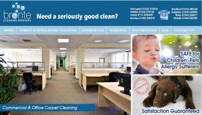 Static Website Design Keighley – Bronte Cleaning