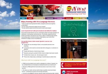 Viva Language Services website