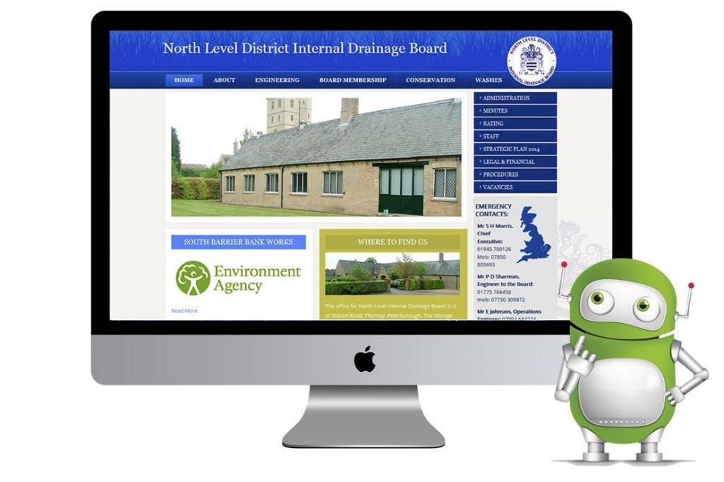 CMS Website Design – North Level Internal Drainage Board