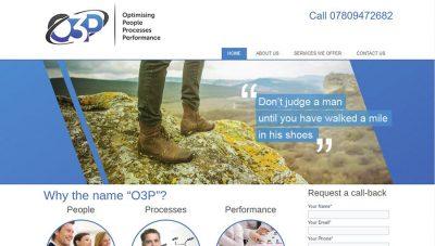 O3P Management Consultancy Website – Peterborough