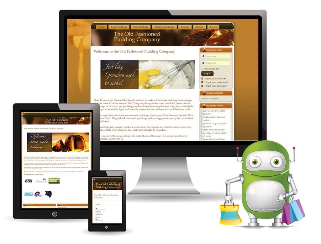 The Old Fashioned Pudding Company – Ecommerce website