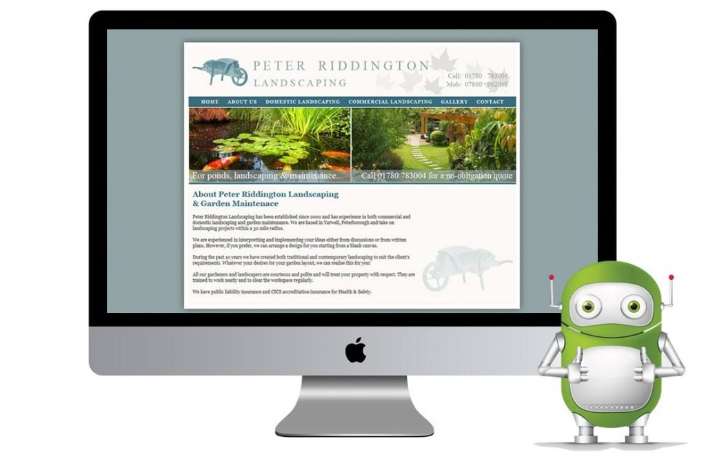 Peter Riddington Landscaping – Peterborough Web Design