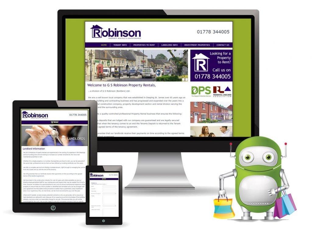 Robinson Property Rentals – CMS Website