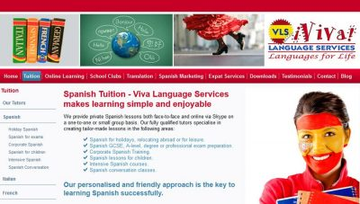 CMS Website: Viva Language Services, Peterborough
