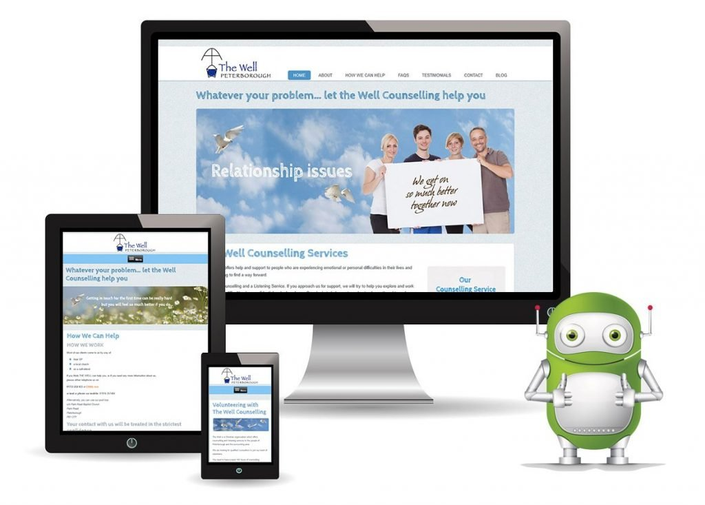 Charity Web Design Peterborough – The Well Counselling